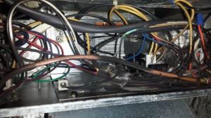 hvac burnt wires