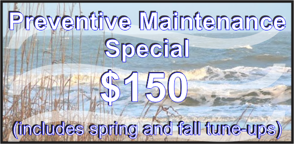 $150 Preventive Maintenance Special - Residential only