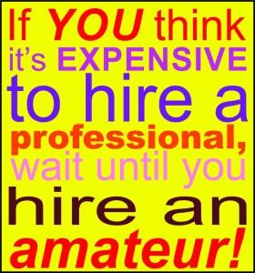 hire an amatuer