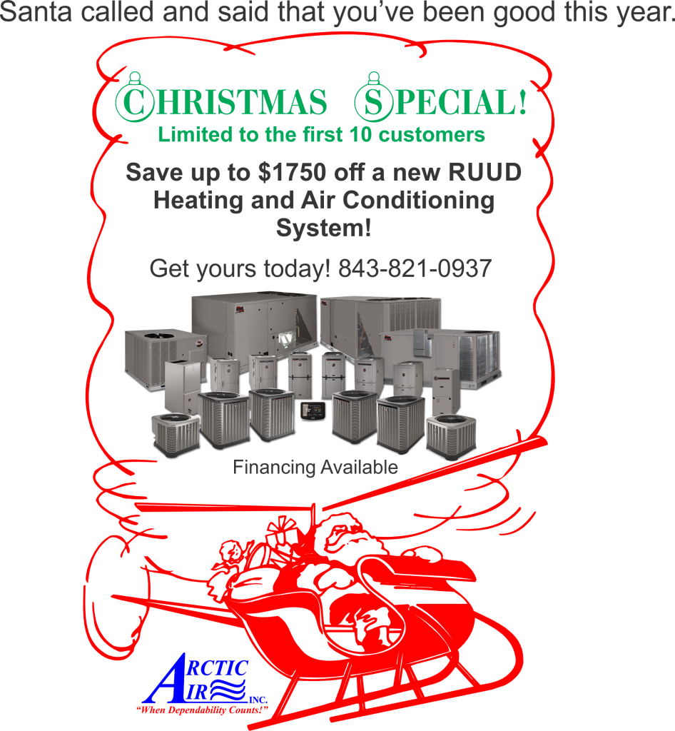 Christmas Special - up to $1750 off a NEW RUUD AC/Heating System!