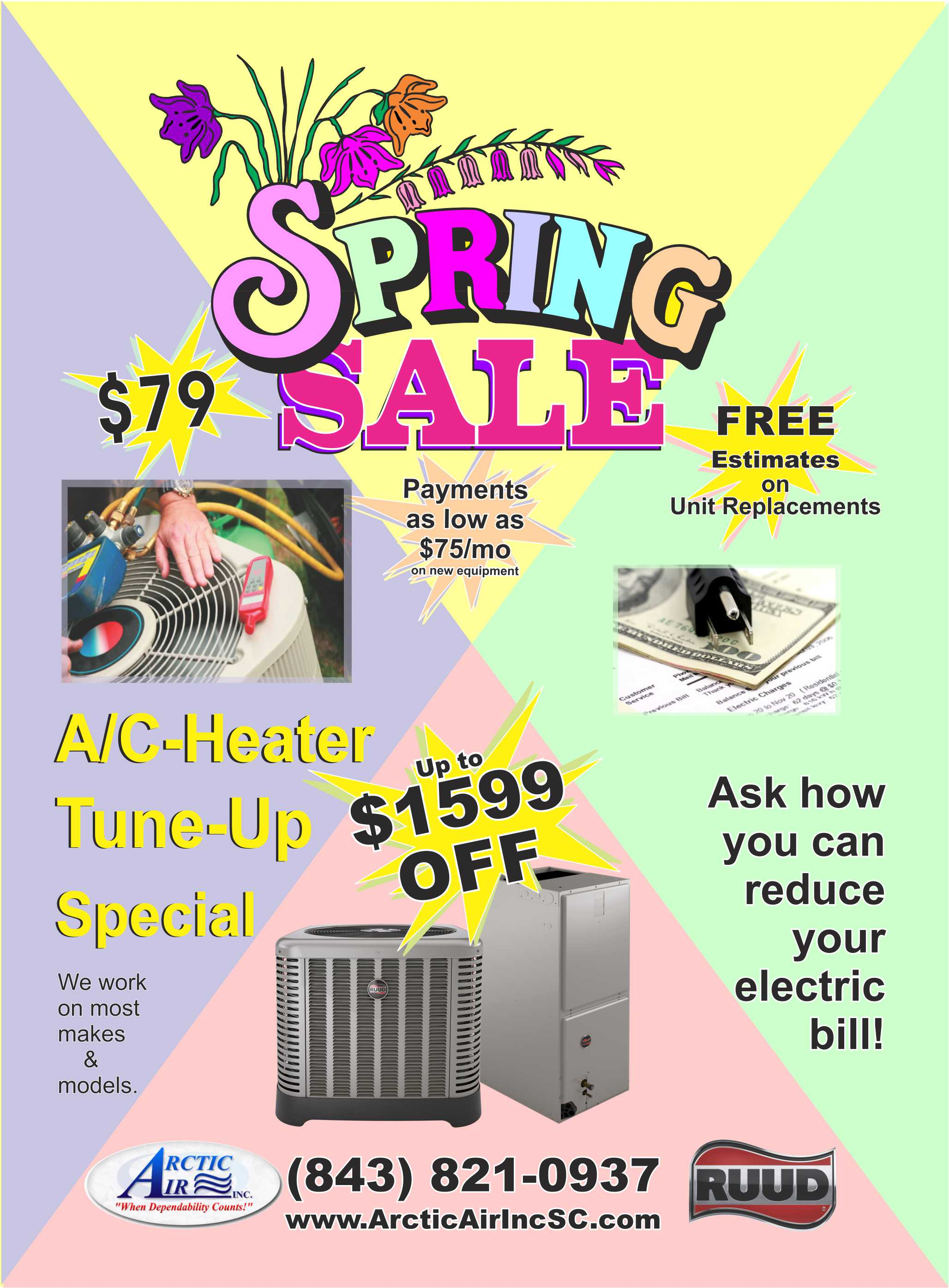 $79 AC Tune-up; $1599 off new unit, financing available